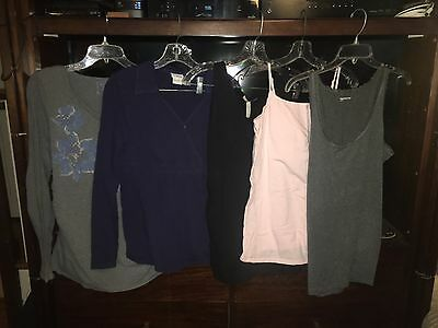 Maternity clothes lot--L, tops--long sleeve and camis