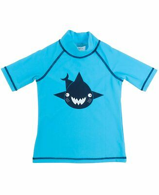 Banz Kids UV Short Sleeved Rash Top | Shark | Turquoise