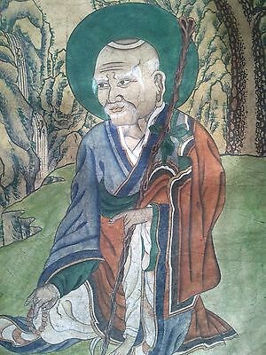 Painting Lohan Chinese Liao Dynasty 11 Century