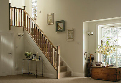 Oak Stop Chamfered Stair & Landing Balustrade Kit - Select Length and Type