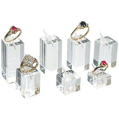 Ring Jewelry Making Display Packaging Supplies Display Stands Square Acrylic