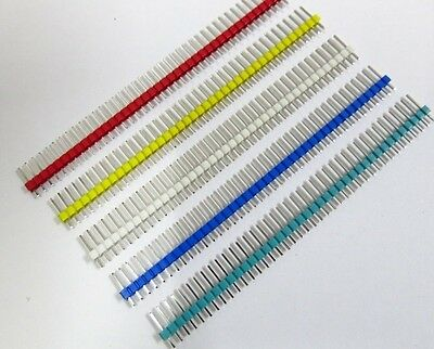 12PCS New Multicolor 2.54mm 1*40Pin Male Single Row Pin Header for Arduino DIY