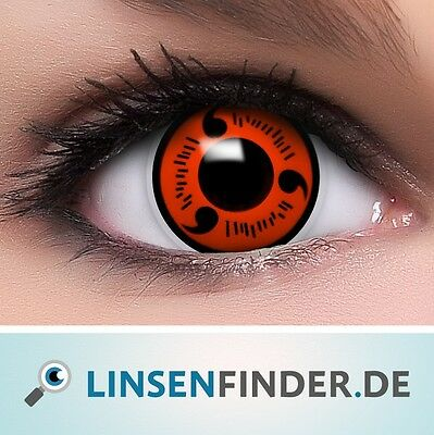 "Coloured Contact Lenses ""Sharingan Naruto"" Contacts Anime Cosplay  +  Free Case"