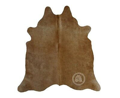 New Brazilian Cowhide Rug Leather BEIGE PALOMINO AND WHITE EXOTIC 6'x6' Cow Hide