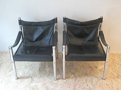 Pair of safari chairs- fauteuils safari - danish design vintage