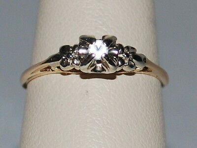 10k gold ring with a diamond