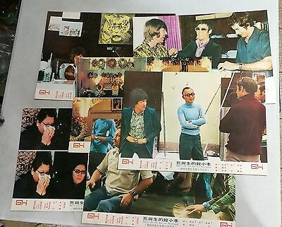 1970s 李小龍  Bruce Lee The Man and the Legend movie lobby cards 6 pcs