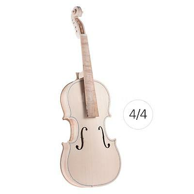 DIY Kits 4/4 Full Size Natural Solid Wood Violin Fiddle Kit Top Maple S2X9