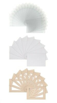 Pack of 20 Picture Mount Kits A4 Mounts, Backs, Bags - Ivory
