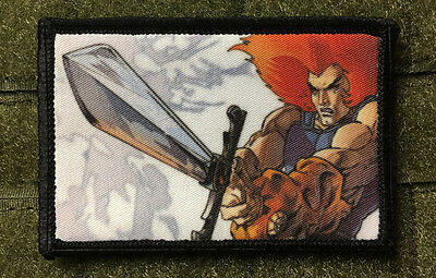 Thundercats Morale Patch Tactical Military USA Hook Badge Army Flag
