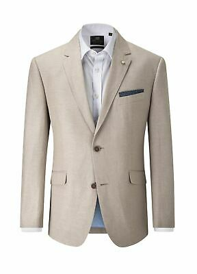SKOPES Linen Blend Striped Sports Jacket(Leon)in Stone,Chest 44-62 Inches, S/R/L