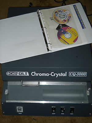 CASI-QLT CQ-5000 Chroma Crystal Photo-To-Crystal Transfer Machine w/ CD/Manual +