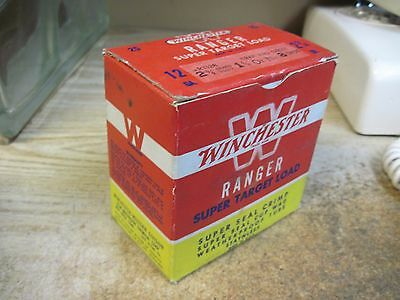 WINCHESTER RANGER PAPER 12 GA shotgun shell box ammo SUPPER target load empty