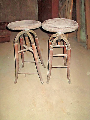 Antique Industrial Adjustable Swivel Drafting Stool Bar Chair (sold seperately)