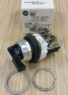 Allen Bradley 800T-J20A 3 Position Spring Return Selector Switch Type 4, 13