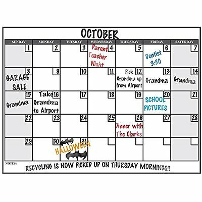 wall26 Wall Calendars Large Dry Erase Calendar Decal, Monthly Planner, Removable