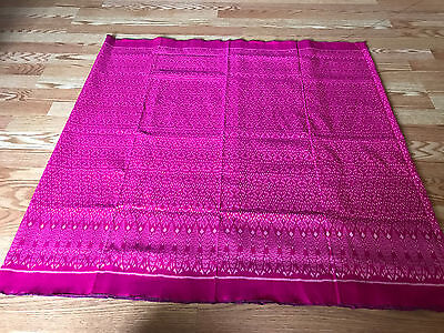 Khmer Cambodia Traditional silk fabric hand made (pink)