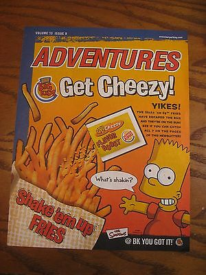 Burger King - The Simpsons -  Adventures Leaflet - Vol. 13 Issue 9 - 2002
