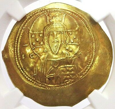 1071 -1078 Ad Gold Byzantine Empire Michael Vii Av Hist. Nomisma Ngc About Unc.