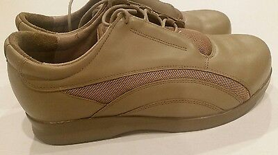 37a578b092 Drew Orthopedic Diabetic Oxfords Shoes Taupe leather Mesh Womens Size 8.5 WW