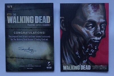 The Walking Dead season 3  sketch card