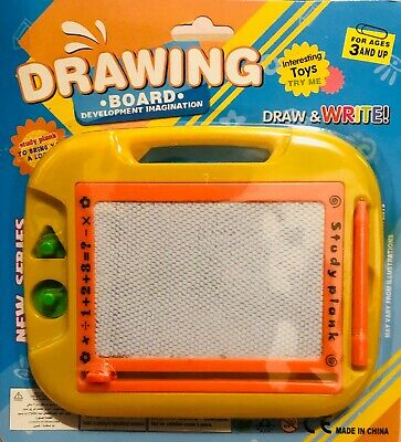 Kids Toy Drawing Colourful Board Magnetic Writing Sketch Pad Erasable Doodle UK