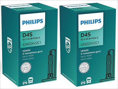 2x NEW PHILIPS XTREME VISION +150% D4S 42402XV2C1 4800K HEADLIGHT GERMANY GEN 2