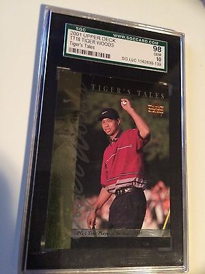 Tiger Woods 2001 Tiger's Tales   Graded Card 10