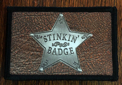 Stinking Badges Morale Patch Tactical Military Army USA Badge Hook Flag