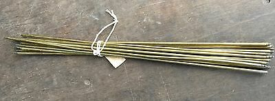 "RECLAIMED VICTORIAN/EDWARDIAN PLAIN BRASS STAIR RODS  x 14 - 24""  & 24 3/4"""