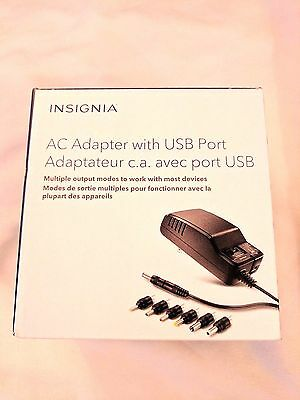 Insignia Universal AC Adapter with USB port NS-AC1200-C (Open Box)