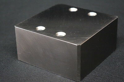 "Tungsten Heavy Alloy Densalloy SD180 Block 4X4X2"" Counterweight Radiation 21 LBS"