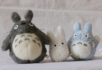 STUDIO GHIBLI Classic My Neighbor Totoro TOTORO PLUSH DOLL TOY ( a set of 3pcs)