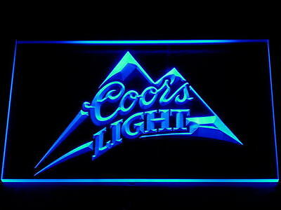 Blue Coors Light Led Neon Sign 12x8 Inches bar pub mancave