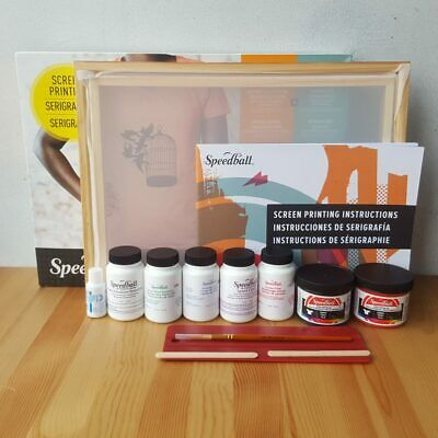 Speedball Fabric Screen Printing Kit Custom T Shirt Hat Printing Set Craft Gift
