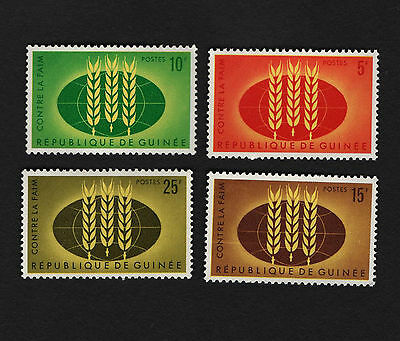 OPC 1963 Guinea Freedom from Hunger Set Sc#275-8 MNH