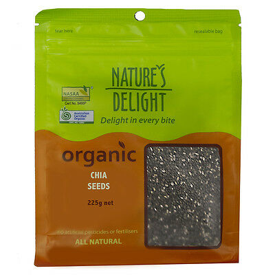 Natures Delight Organic Chia Seeds 225g