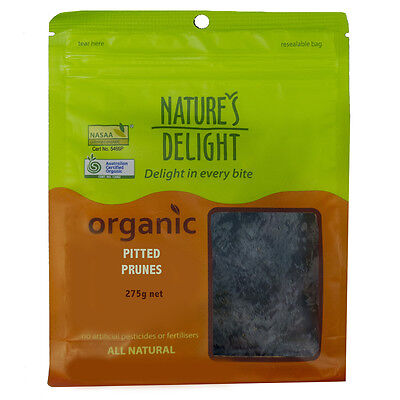 Natures Delight Organic Pitted Prunes 275g