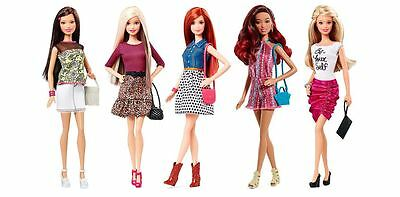 Barbie Fashionista Doll 5 Pack Fashion Trendy Outfit Shoes Style Jewelry Purse