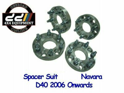 (4) 25MM WHEEL SPACERS 6x114.3 STUD PATTERN For D40 NAVARA R51 PATHFINDER
