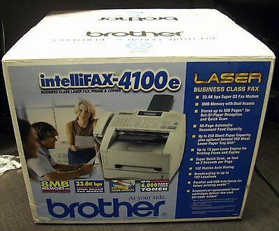 NEW Brother IntelliFax-4100e High Speed Business-Class Laser Fax Machine