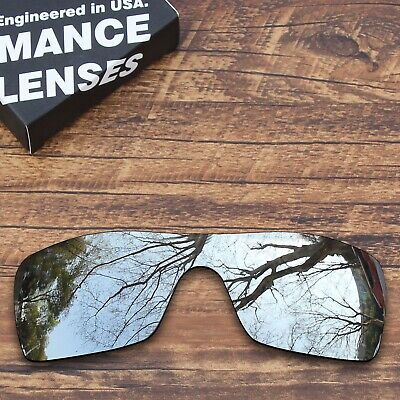 T.A.N Polarized Lenses Replacement for-Oakley Batwolf Sunglasses-Metallic Silver
