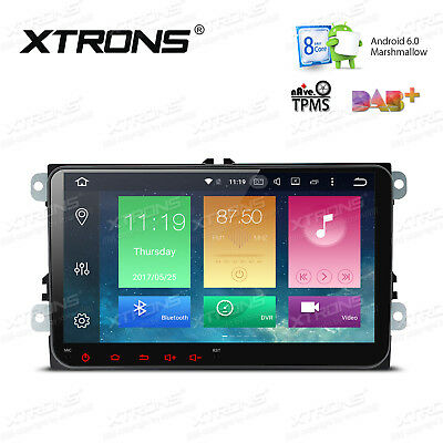 For VW 9 inch HeadUnit Android 6.0 GPS Navi Octa-Core Car Stereo Radio Bluetooth
