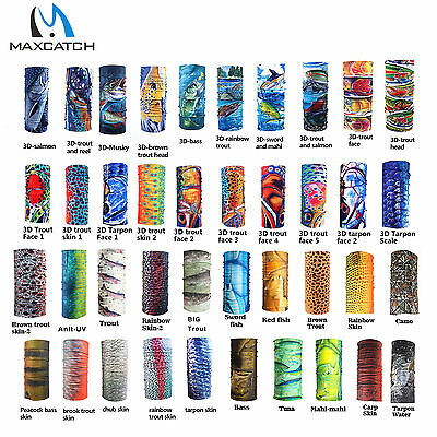Fly Fishing Scarf Headwear Sun Protection Face Mask Neck Gaiter Multicolor Tube