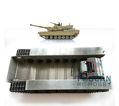 100% METAL ABRAMS M1A2 TANK CHASSIS GEARBOX ROAD WHEELS TRACKS HengLong