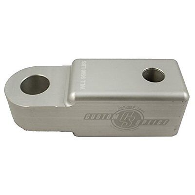 Custom Splice 2in Shackle Hitch Receiver adapter Silver Winch Shackle