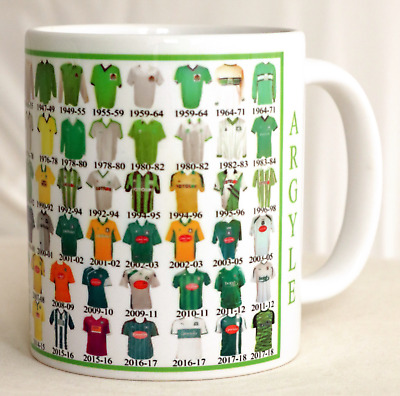 Plymouth Argyle Mug Football shirt history New Gift