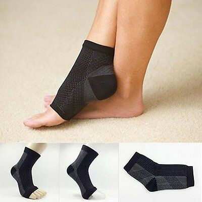 Foot Angel Compression 2 SLEEVE Anti Fatigue Arch Heel Plantar Relief (S/M~L/XL)