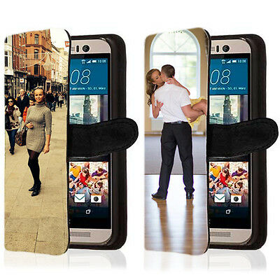 Personalised Custom Printed Photo Picture Flip Wallet Phone Case Cover any phone