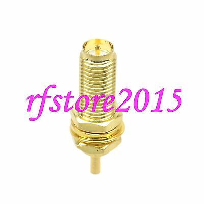 1pce Connector RP-SMA female plug bulkhead solder 1.13mm cable 17mm RF COAXIAL